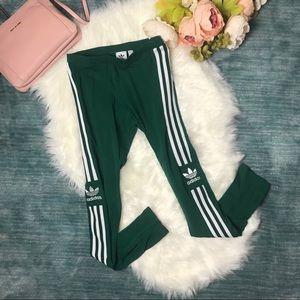 NWT Adidas Green & White Trefoil Tight Legging
